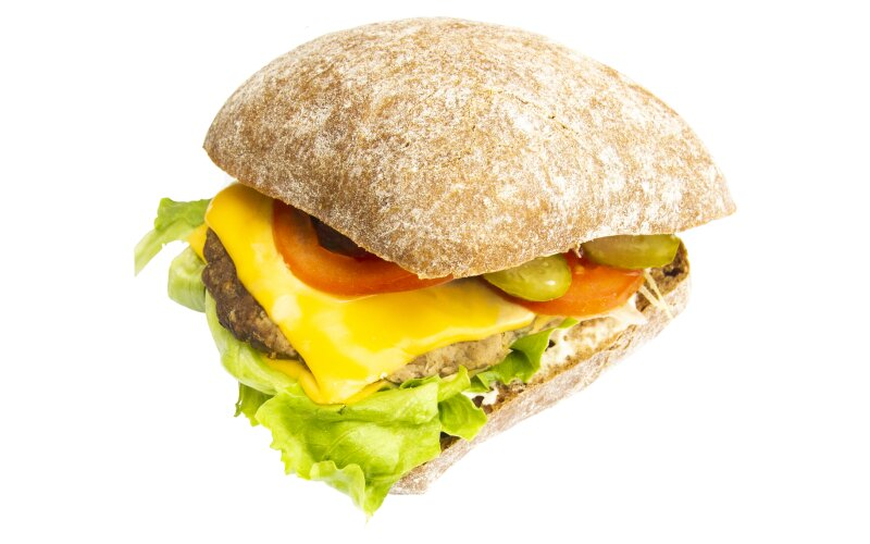Сэндвич с говяжьей котлетой