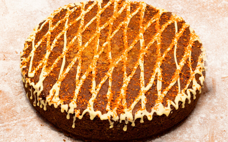 Пирог морковный с грецким орехом