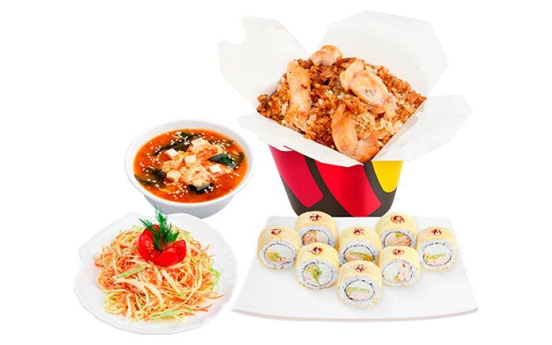 Бизнес-ланч №4 с супом «Кимчи»