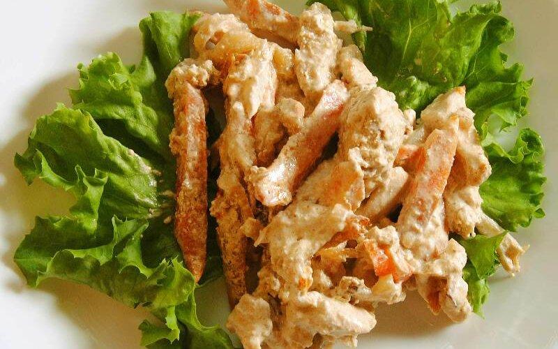 Бефстроганов из филе цыплёнка