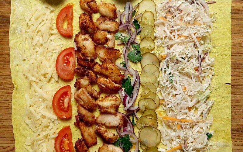 Шаурма «Ниндзя мини» с сыром