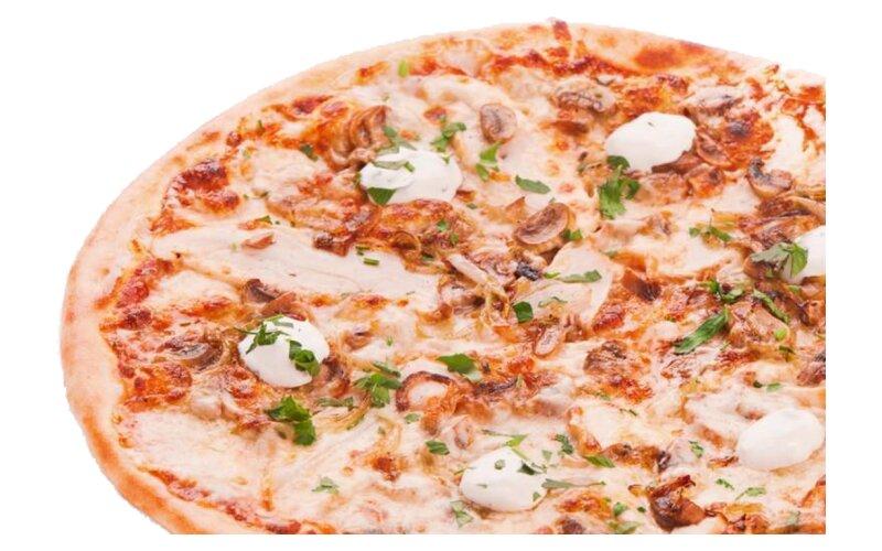 Пицца «Охотничья» на пышном тесте