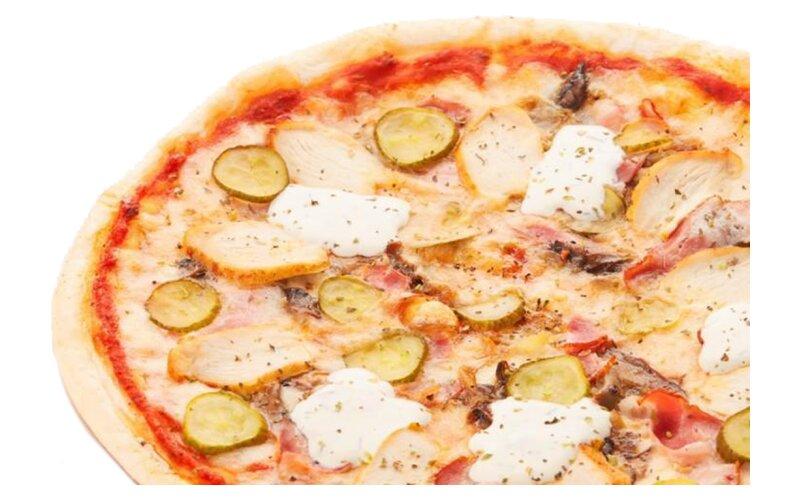 Пицца «Динамо» на пышном тесте