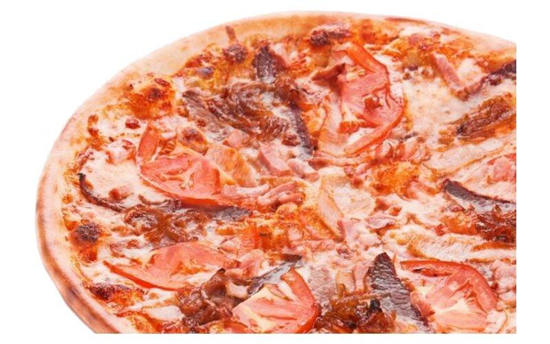 Пицца «Мясная» на пышном тесте