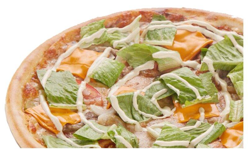 Пицца «Бургер» на пышном тесте