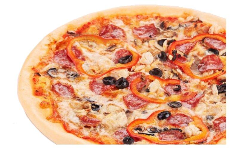 Пицца «Сытная» на пышном тесте