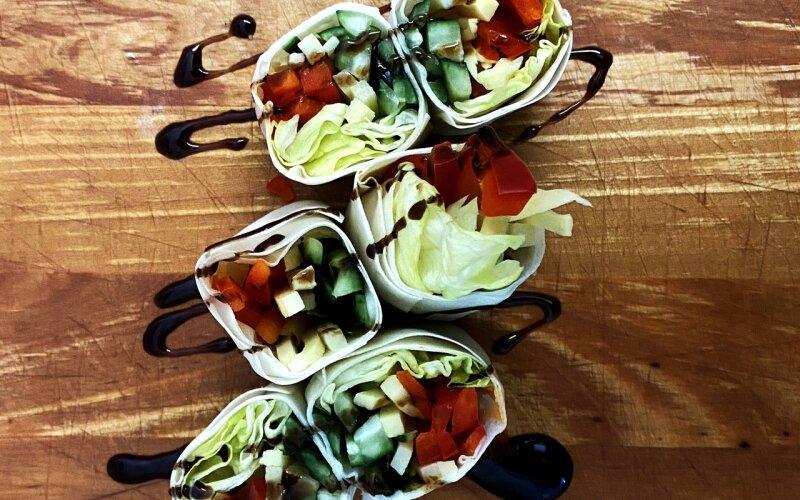 Спринг-роллы с овощами