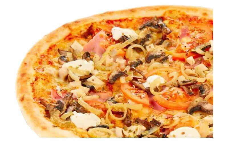 Пицца «Сочная» (на тонком тесте)