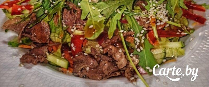 Салат из говядины с кунжутом