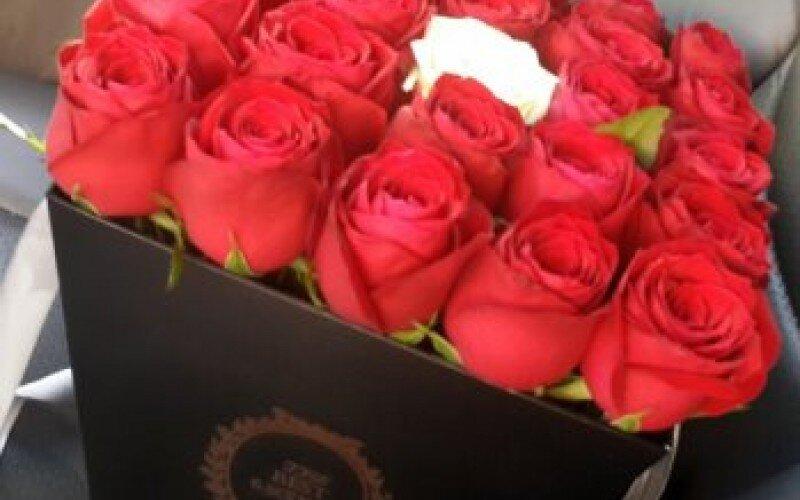 Цветочная коробка «Красный закат»