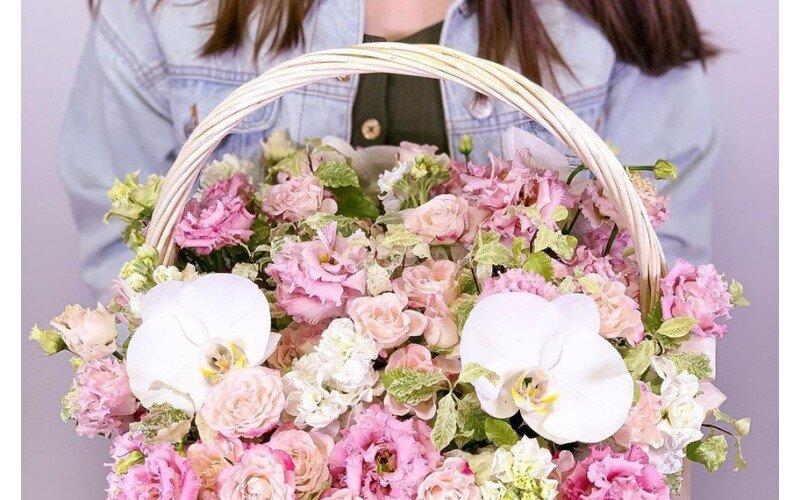 Корзина «Розовая зефирка»