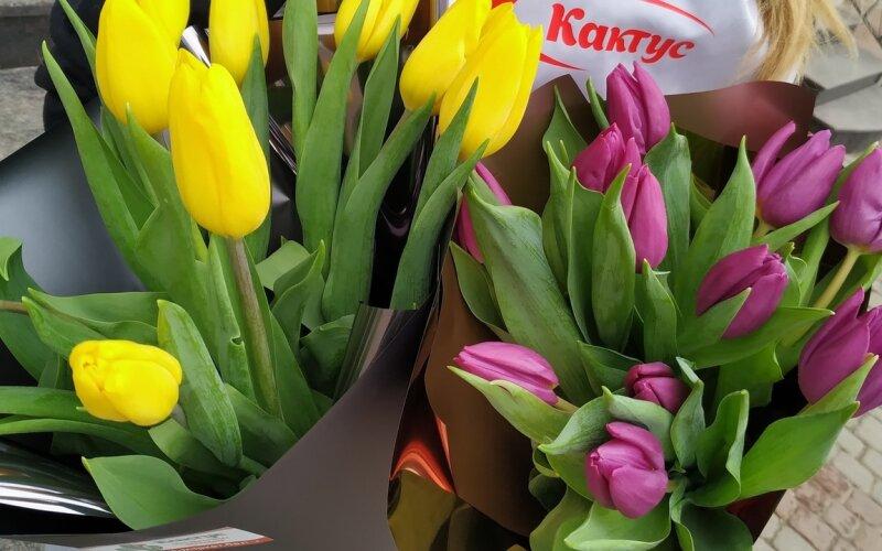 Мини-букет из тюльпанов