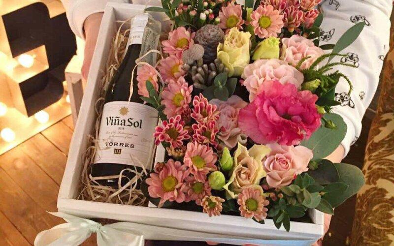 Flowerbox с хризантемой