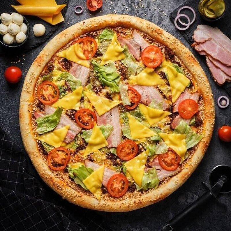 Пицца «Роял чизбургер»