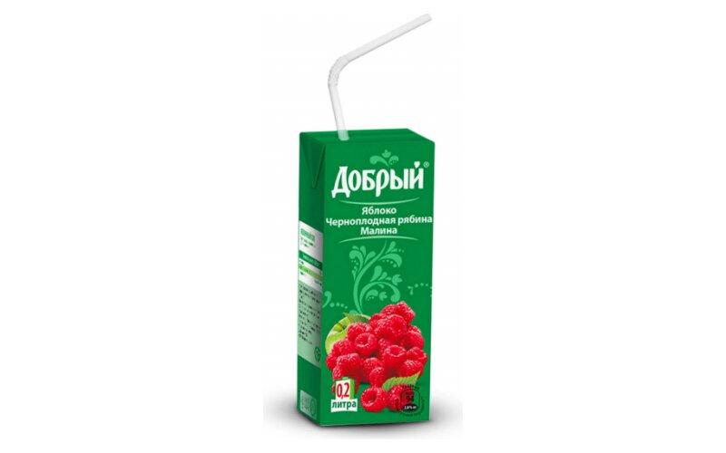 Сок «Добрый» яблочно-малиновый