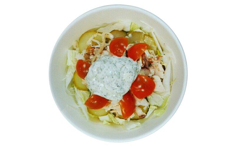 Салат «Деликатесный» с курицей