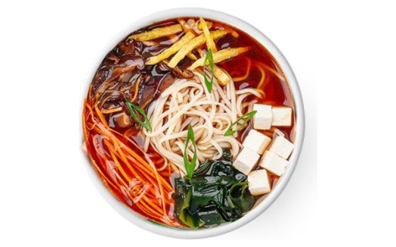 Суп «Рамэн» вегетарианский с маринованным бамбуком и грибами шиитаке