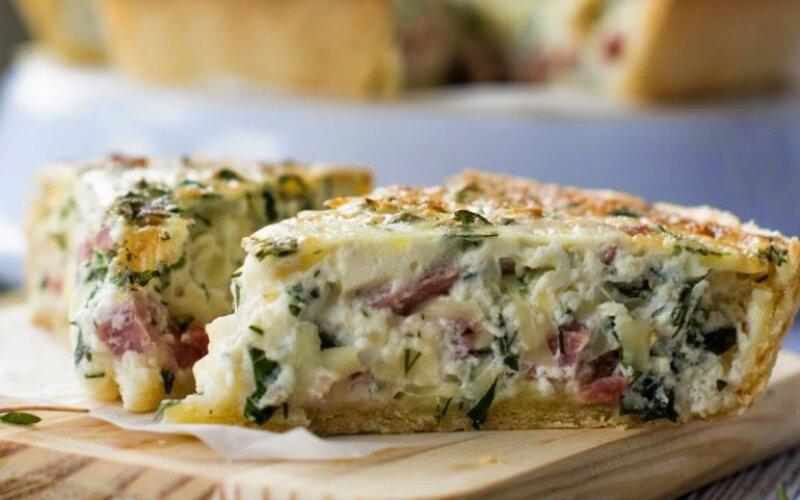 Пирог с картофелем, беконом и кабачком «Осенний»