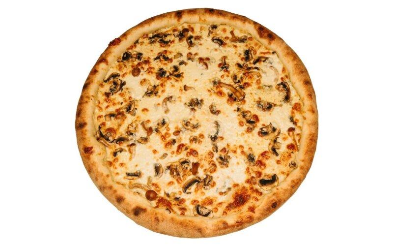 Пицца «Грибная» на сметанном соусе