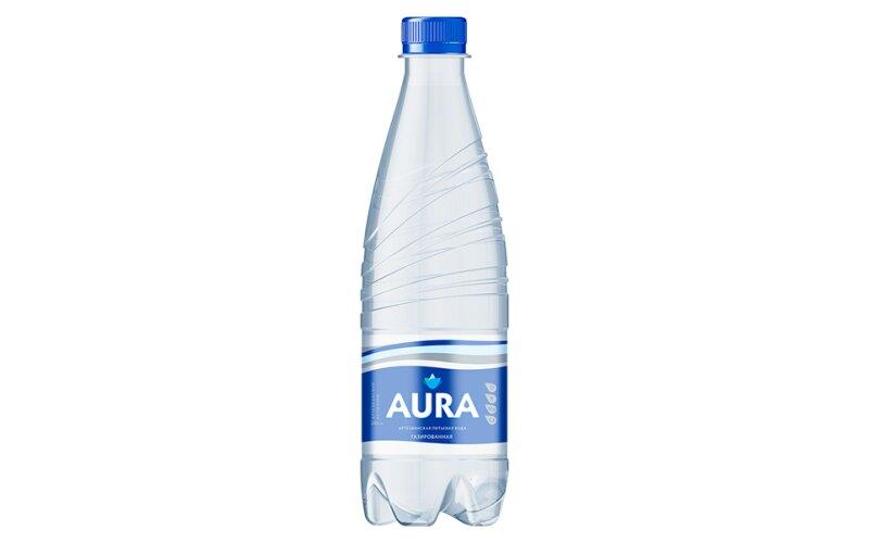Вода питьевая Aura газированная