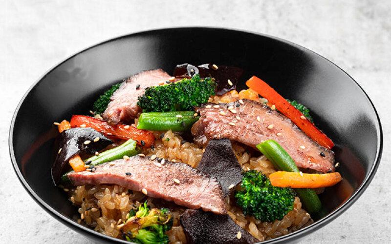 Тори Яки с китайским рисом