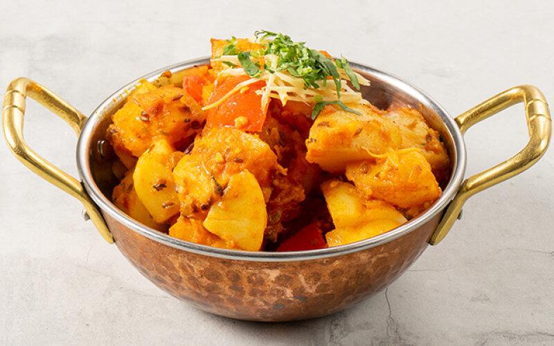 Картофель, запечённый с приправами