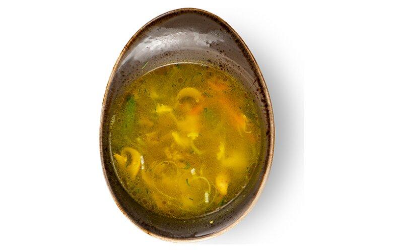 Овощной суп с говядиной и шампиньонами