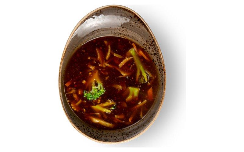Кисло-острый овощной суп с курицей