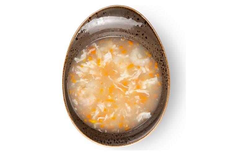 Суп с морским окунем и креветками