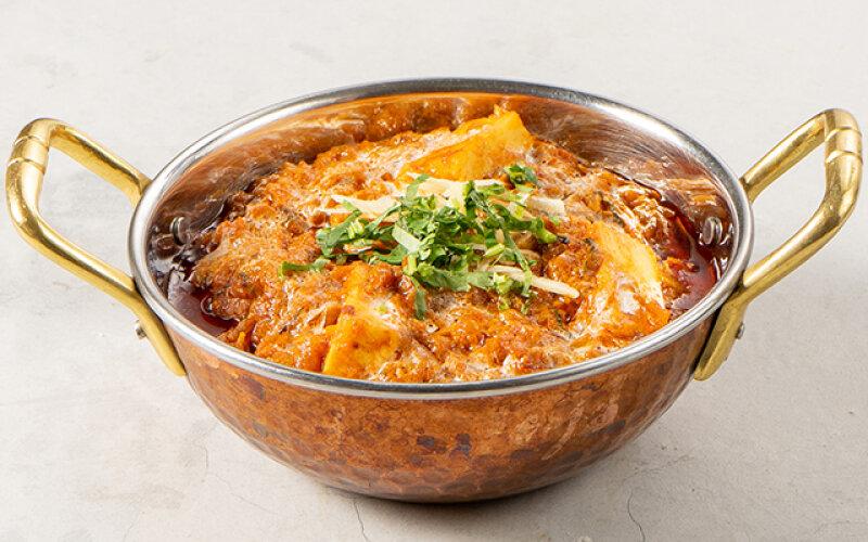 Домашний сыр в соусе «Масала»