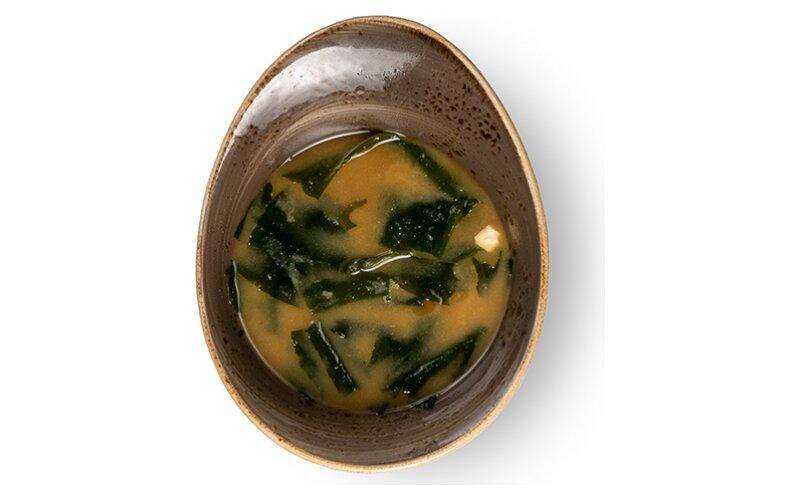 Мисо суп с грибами намеко и сыром «Тофу»