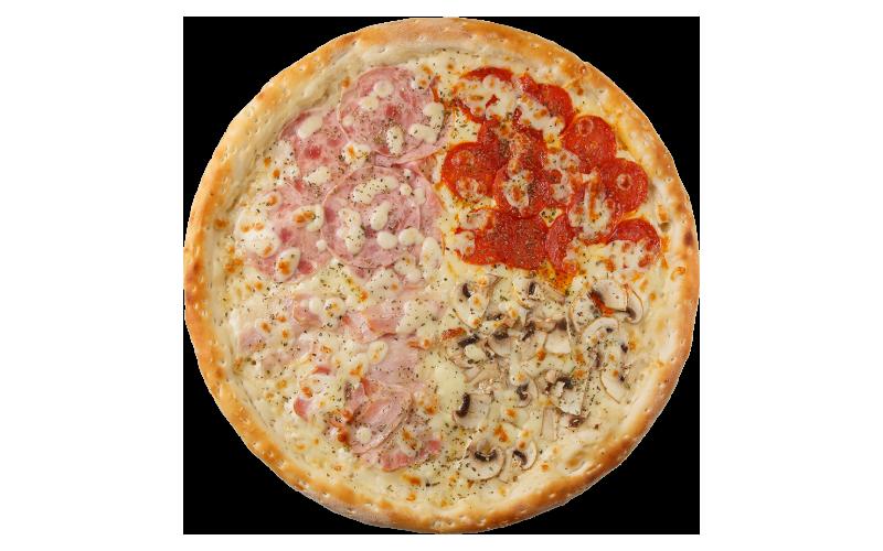 Пицца «Пати-микс» на сырном соусе