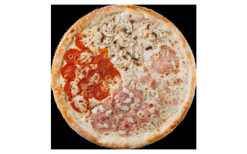 Пицца «Пати-микс» на грибном соусе