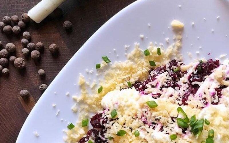 Салат из свёклы с сыром