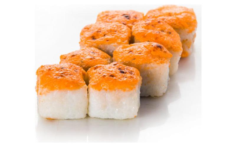 Запечённый ролл «Фудзияма хот»