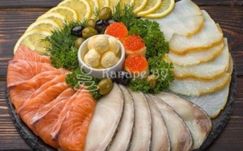 Закуска «Лосось, масляная рыба, палтус»
