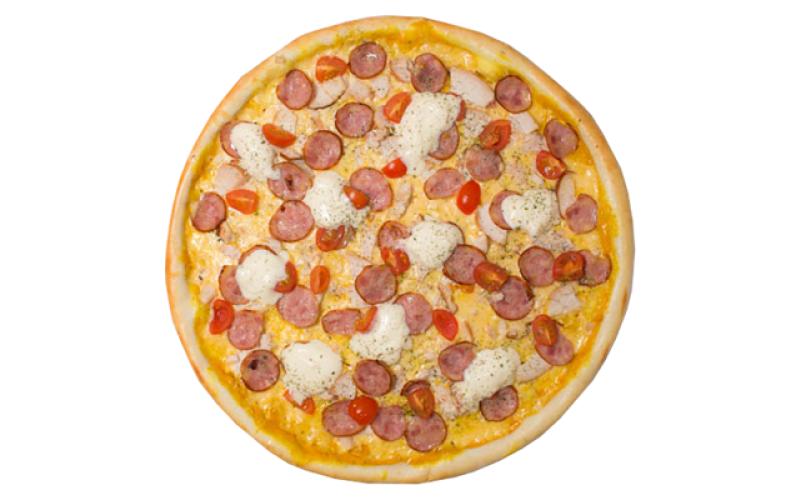 Пицца «Колбаски карри»