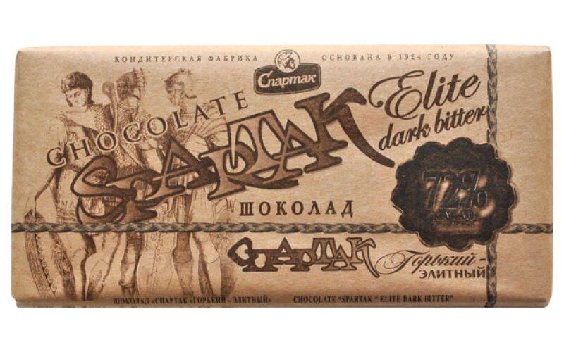 Шоколад «Спартак» горький элитный 72%