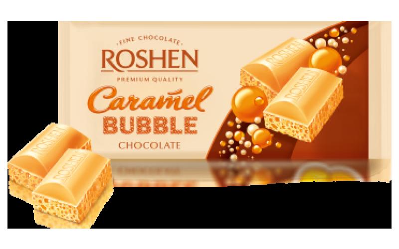 Шоколад Roshen пористый «Карамельный белый»