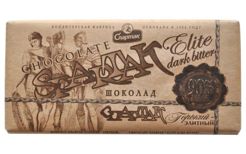 Шоколад «Спартак» горький элитный 90%