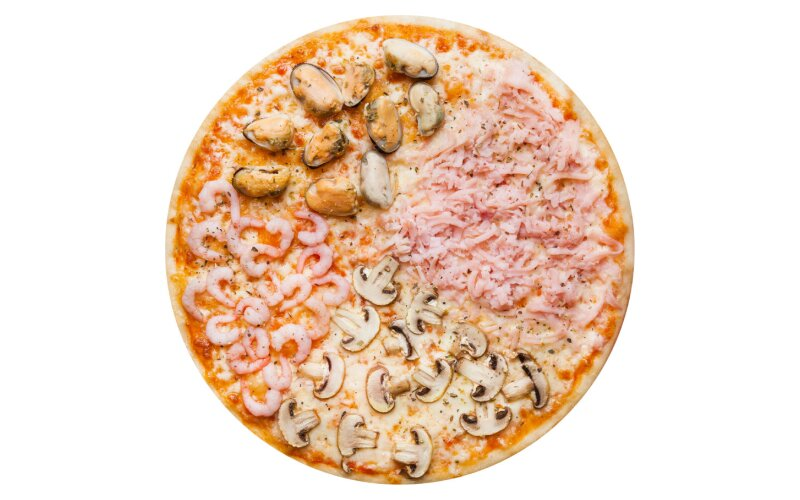 Пицца «4 сезона» с пышным краем
