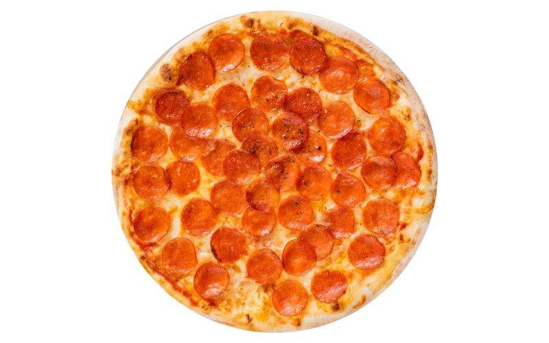 Пицца «Супер пеперони» с пышным краем