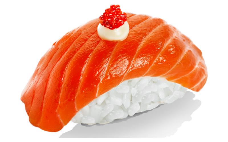 Нигири с лососем маринованным