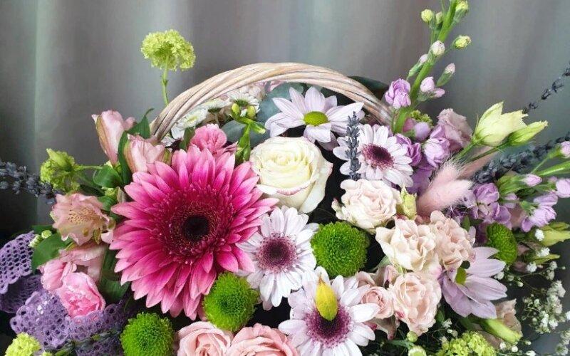 Корзина цветов «Гербера»
