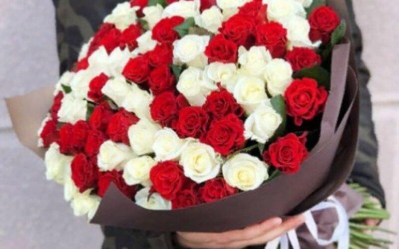 Букет «Дуэт» из 101 розы