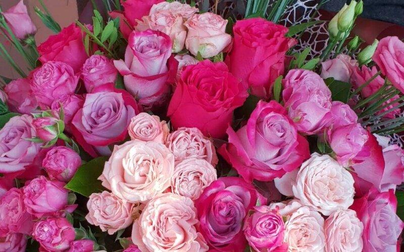 Букет цветов «Розовый микс»