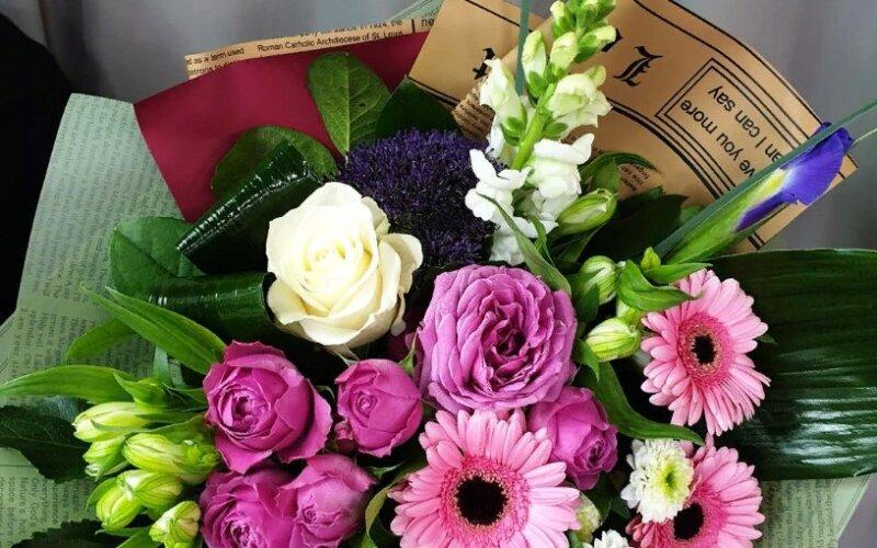 Букет цветов «Интрига»