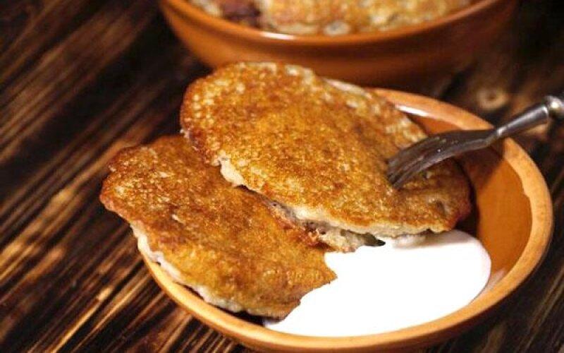 Драники картофельные, фаршированные мясом