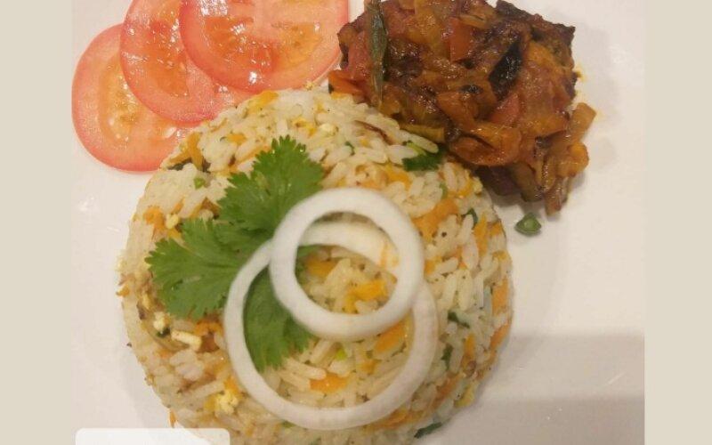 Жареный рис с масала