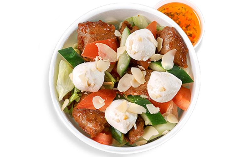 Салат с жареной курицей «По- итальянски»
